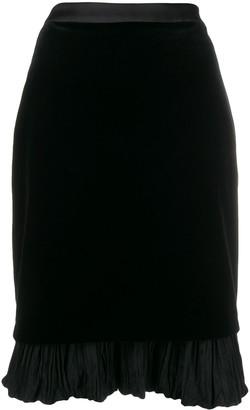 Karl Lagerfeld Paris X Carine velvet skirt