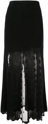 Alexander McQueen Ottoman knit skirt