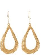 Aurelie Bidermann Swan feather yellow-gold earrings
