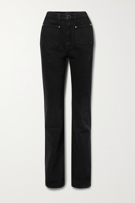 KHAITE Isabella High-rise Straight-leg Jeans - Black