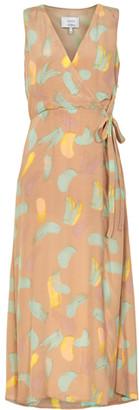Nümph Kyla Dress Sesame - 40 - Brown/Yellow/Green