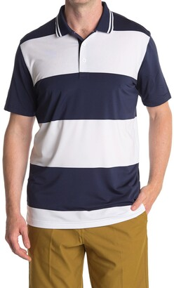 Puma White Striped Rugby Golf Polo