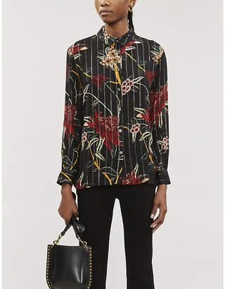BA&SH Petunia floral-print crepe shirt
