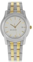 Gucci 5500 YA055216 Stainless Steel / Gold Plated with White Dial 34mm Mens Watch