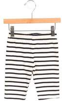 Petit Bateau Girls' Striped Rib Knit Pants