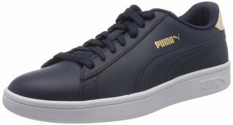 Puma Unisex Adult's Smash v2 L Sneakers White White Black 6.5 UK