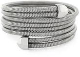 BCBGeneration Silvertone Coil Wrap Bracelet