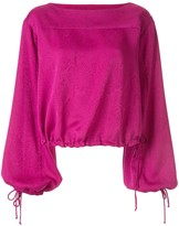 Manning Cartell tie cuff square neck blouse