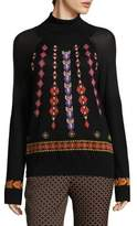 Etro Embroidered Wool Turtleneck Sweater