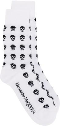 Alexander McQueen Multi Skull Knit Socks