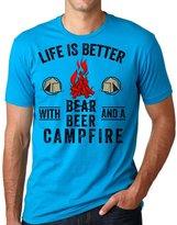 Silk Road Tees Camping T-Shirt Funny Camping Beer Tee Shirt