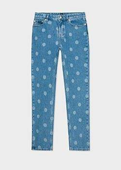 Paul Smith Women's Light-Wash Polka Dot Girlfriend-Fit Jeans