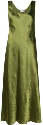 Vince Flared Slip Satin Dress