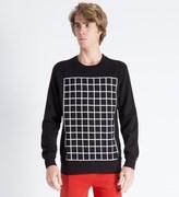Hero's Heroine Black Grid Sweater