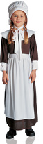 Brown & White Colonial Girl Dress-Up Set - Kids