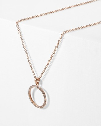 Ted Baker LINZZI Lunar circle Swarovski crystal pendant