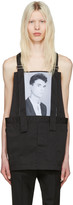 Raf Simons Black Robert Mapplethorpe Edition Dungaree David Byrne Top