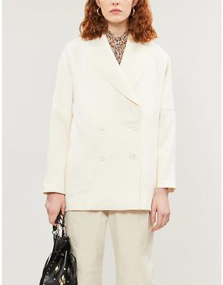 BA&SH Raven double-breasted cotton-blend coat