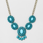 BaubleBar SUGARFIX by Floral Statement Necklace with Fringe Detail - Turquoise