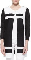 Berek Graphic Long Crinkle Jacket, Black/White, Petite
