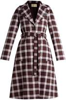 Christopher Kane A-line gingham wool-blend coat