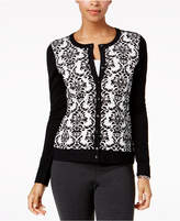 Charter Club Flocked Cardigan, Created for Macy's