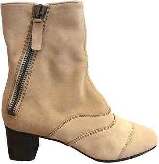Chloé Lexie Pink Suede Ankle boots