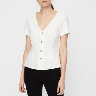 Vero Moda Anna Milo V-Neck Short-Sleeved Blouse