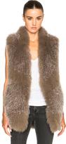 Derek Lam 10 Crosby Knitted Fox Fur Vest