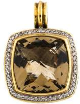 David Yurman Smoky Quartz & Diamond Albion Pendant