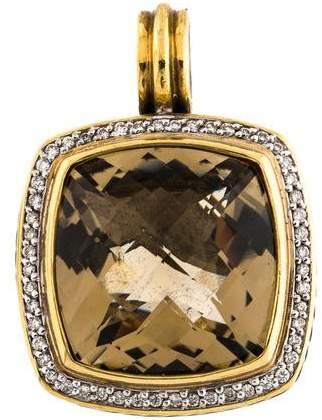 David Yurman Smoky Quartz & Diamond Albion Pendant