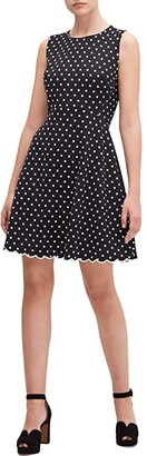 Kate Spade Cabana Dot Ponte Dress (Black) Women's Dress