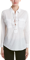 RD Style Lace-Up Blouse