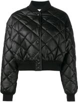 Stella McCartney crop quilted puffer jacket - women - Silk/Polyester/Spandex/Elastane/Viscose - 42