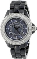 Isaac Mizrahi Women's IMN45B Crystal Bezel Ceramic Bracelet Watch
