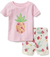 Old Navy 2-Piece Pineapple-Graphic Sleep Set For Toddler & Baby