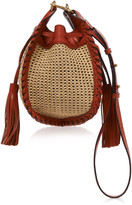 Isabel Marant Radja Tasseled Raffia and Leather Shoulder Bag