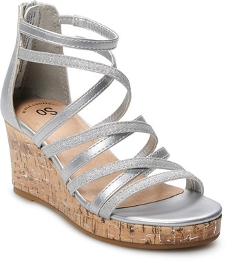 So Lezlie Girls' Wedge Sandals