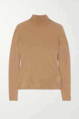 Gabriela Hearst Costa Cashmere And Silk-blend Turtleneck Sweater - Camel