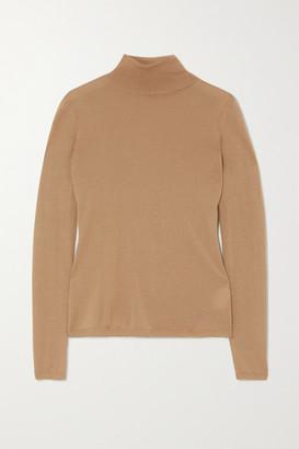 Gabriela Hearst Costa Cashmere And Silk-blend Turtleneck Sweater - Camel