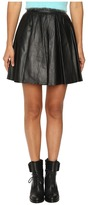 Jeremy Scott Leather Circle Skirt Women's Skirt