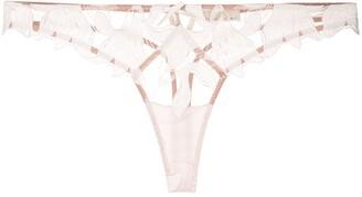 Fleur Du Mal Lily lace thong