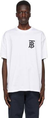 Burberry White TB Monogram Emerson T-Shirt