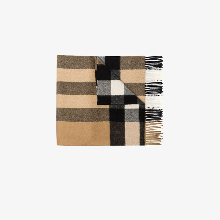 Burberry beige House check cashmere scarf