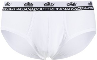 Dolce & Gabbana Contrasting Crown And Brand Logo Briefs