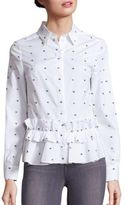 McQ by Alexander McQueen Cotton Peplum Ruffle Shirt