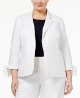 Nine West Plus Size Tie-Cuff Blazer