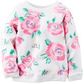 Carter's Floral Top (Baby) - Ivory-12 Months