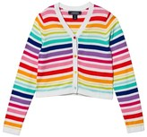 Lands' End Rainbow Strip Sophie Cardigan