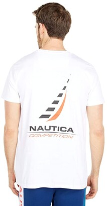 Nautica Competition Short Sleeve T-Shirt (Bright White) Men's Clothing